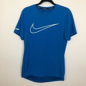 Nike running dri fit small perforated swoosh tee